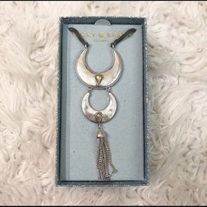NWT Lucky Brand Crescent Bolo Western Necklace
